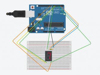 Comunicação serial com um display de 7 segmentos - Arduino