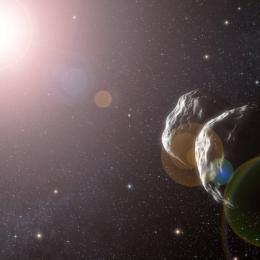 Um enorme asteróide de cerca de um quilómetro foi encontrado a orbitar o Sol.