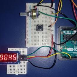Cronômetro com display TM1637 e Arduino