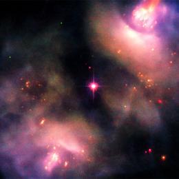 Uma complexa e dinâmica atividade na região na constelação de Gêmeos
