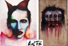 As peculiares pinturas de Marilyn Manson
