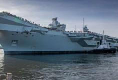 O segundo porta-aviões da Royal Navy navega pela primeira vez