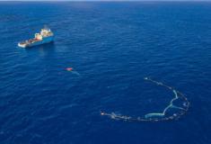 A Ocean Cleanup recolhe grandes quantidades de lixo no Pacífico