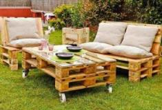 Cinco ideias para moveis de jardim construídos com paletes