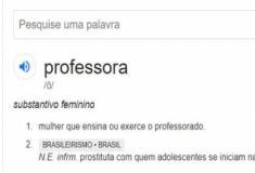 Significado de professora para o Google