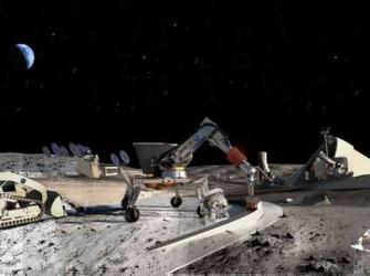 NASA e Caterpillar projetam escavadoras espaciais