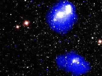 Abell 1758, um mega-aglomerado de galáxias em formação