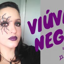 Maquiagem de Halloween - Viúva Negra