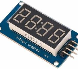 Relógio digital com temperatura com display TM1637