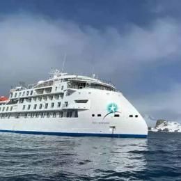 O primeiro navio de cruzeiro X-Bow do mundo começa a sua primeira expedição antártica