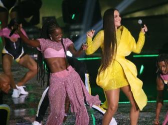 Iza e Ivete Sangalo: Veja os bastidores do Prêmio Multishow