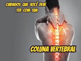 Cuidados que você deve ter com sua coluna vertebral