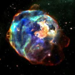 Estrela massiva explode e deixa remanescente de supernova para trás