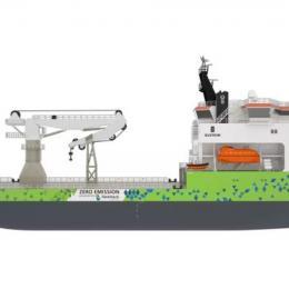 Ulstein projeta navio a hidrogénio para operações offshore