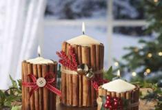 Decorações com velas para o Natal