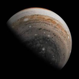 Sonda Juno capta impressionante imagem do hemisfério sul de Júpiter
