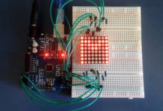 Exibindo frases em uma matriz de LEDs 8 X 8 com Arduino