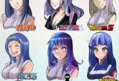 Personagens de animes com traços de outras séries