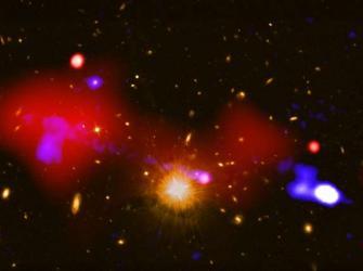 Grande buraco negro estimula formação de estrelas em galáxias distantes
