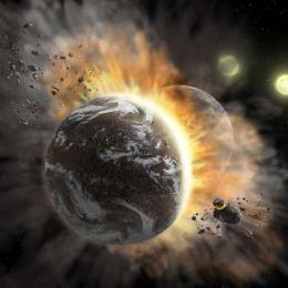 O que acontece quando planetas colidem