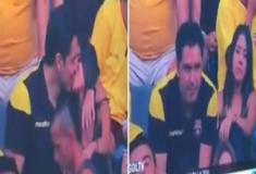 Câmera do beijo flagra casal e reação levanta suspeita de infidelidade