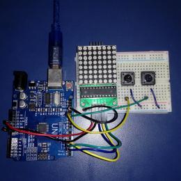 Contador de cliques com o Módulo Matriz de Leds - Arduino