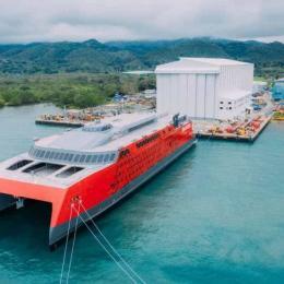 Austal procedeu ao lançamento do ferry de alta velocidade