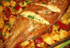Peixe assado medieval
