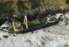 O mistério do navio 'fantasma' que apareceu na costa da Irlanda após uma tempestade