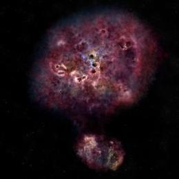 Descoberta supergaláxia que morreu após frenesi de formação de estrelas
