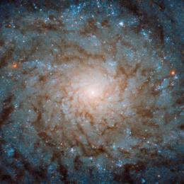 Hubble mostra uma galáxia anêmica
