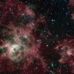 Spitzer examina em infravermelho a beleza da Nebulosa da Tarântula