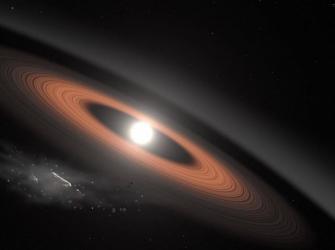 Estrela explode seus próprios planetas e devora os restos