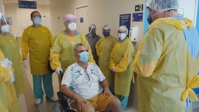 Hospital comemora alta de 100º paciente com Covid-19: 'Oportunidade de vida'