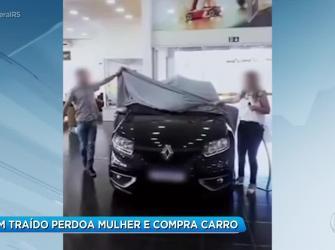 Homem traído perdoa mulher e compra carro para ela