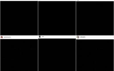 """Por que os artistas estão postando uma imagem preta nas redes sociais? Entenda o movimento """"Blackout Tuesday"""""""
