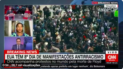 VÍDEO: Consulesa da França cobra a CNN ao vivo por colocar Waack para comentar protestos antirracistas nos EUA