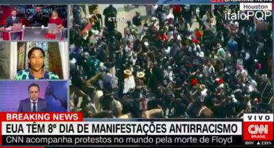 Convidada critica CNN Brasil ao vivo por colocar Waack para comentar racismo