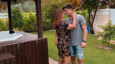 Namorado da mãe de Neymar recebe alta após levar 12 pontos no braço