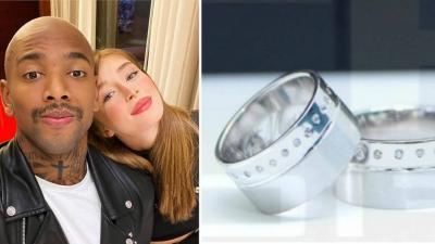 Nego do Borel compra anel de R$ 20 mil para a noiva Duda Reis, mas está sem dinheiro