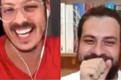Esposa de Fábio Porchat 'invade' live do marido e vira sucesso na internet; assista