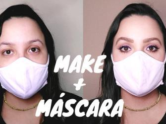 Como usar maquiagem com máscara de proteção