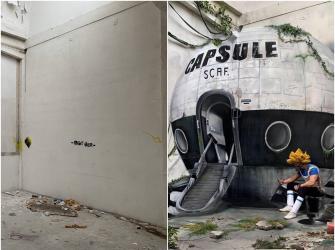Artista francês transforma espaços abandonando em ilusões ópticas de grafite incríveis