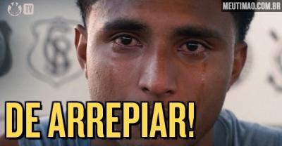 Éderson recorda trajetória e chora em depoimento antes da final do Paulistão; veja vídeo