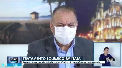 Ministério Público recomenda que prefeito de Itajaí não use ozonioterapia para tratar Covid-19