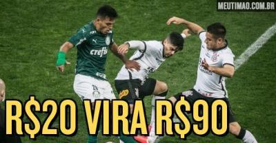 [Publi] Apostadores apontam Palmeiras como favorito, mas Corinthians vai em busca do tetra