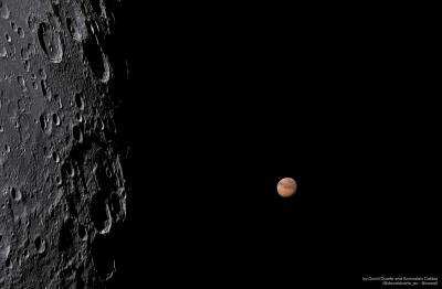 Foto de Marte tirada por astrônomos amadores de Alagoas é destaque no site da Nasa