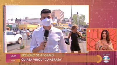 Repórter é interrompido por briga em link ao vivo no 'Encontro'