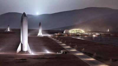 SpaceX diz que foguete Starship pode voar para marte já em 2024