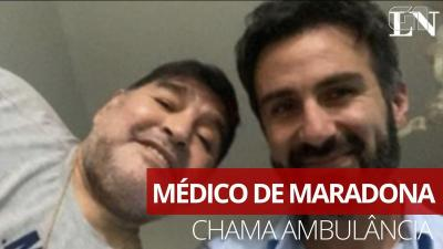 Ouça a gravação do pedido de ambulância feito pelo médico de Maradona